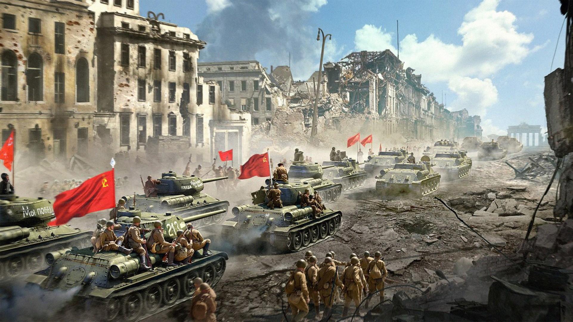 Колонна советских танков